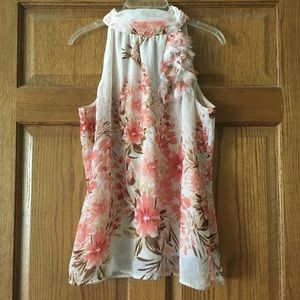 Maurices Light Pink Floral Tank Large